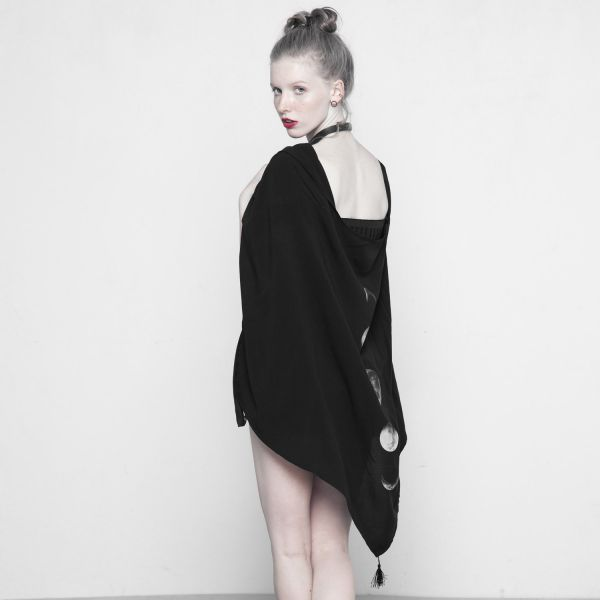 Moon Phases Cape Top im Schal Cardigan Look