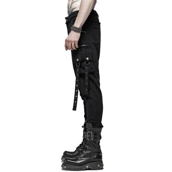 Gothic Hose im Destroyed Reiterhosen Look mit Taschen