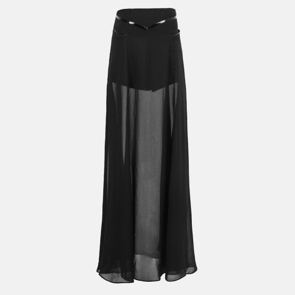 Dark Romantic Chiffon Maxirock transparent mit Shorts