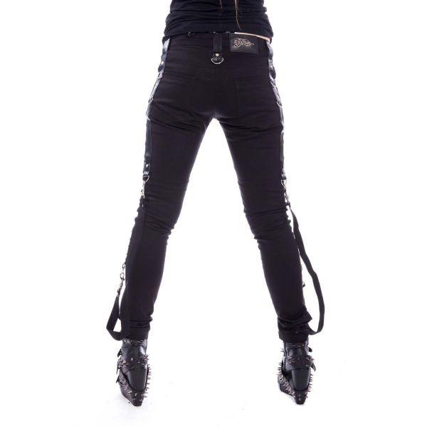 Gothic Style Skinny Bondage Hose im Holster Look