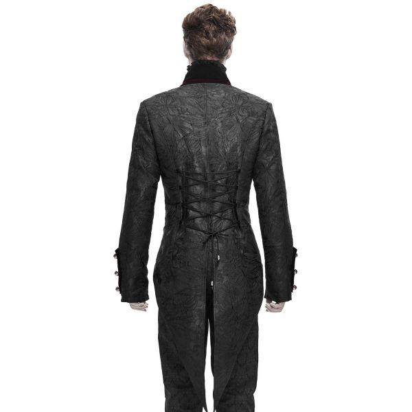 Frack im Brokat-Design mit Samt und Rückenschnürung