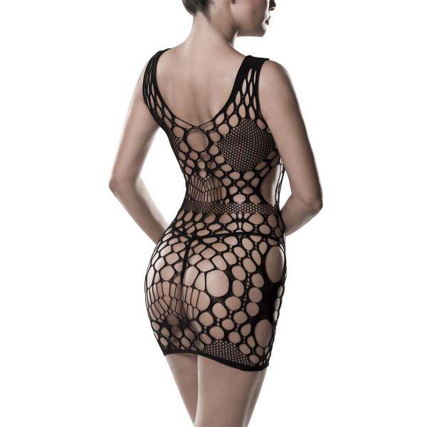 Sexy Kleid aus Netz mit Lochmuster