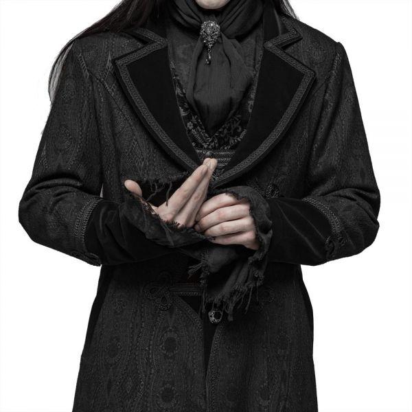 Jacquard Mantel mit Reverskragen im Dark Mystic Style