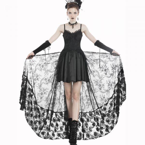Corsagenkleid im Layering-Look mit Häkelspitze