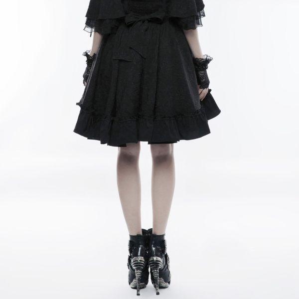 Gothic Lolita Rüschen Glockenrock mit High Waist Bund