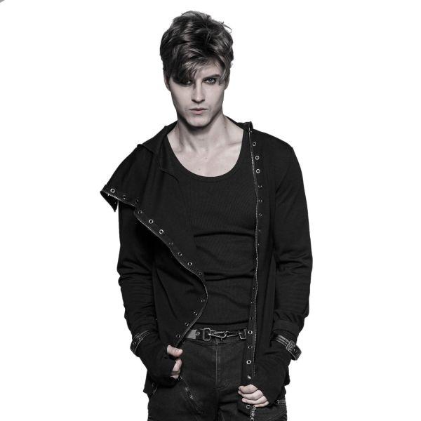 Industrial Goth Shirt Jacke mit Armstulpen und Zipper