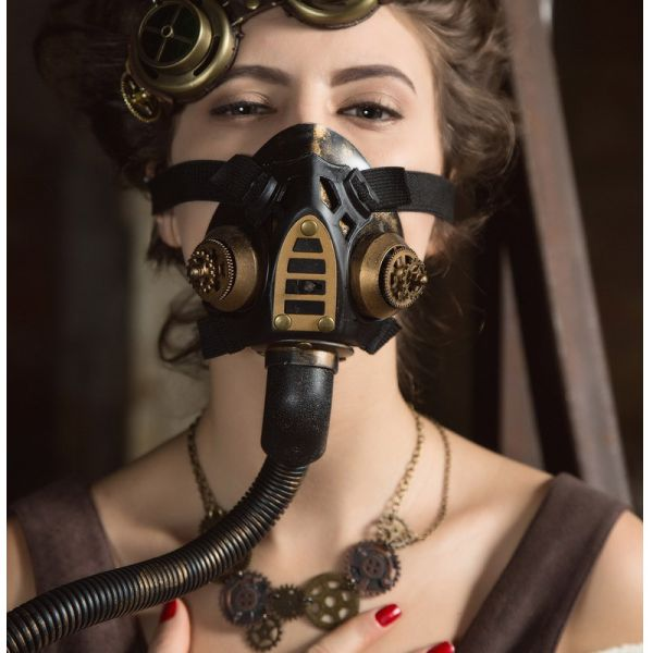 Steampunk Fetisch Gasmaske Nachbildung