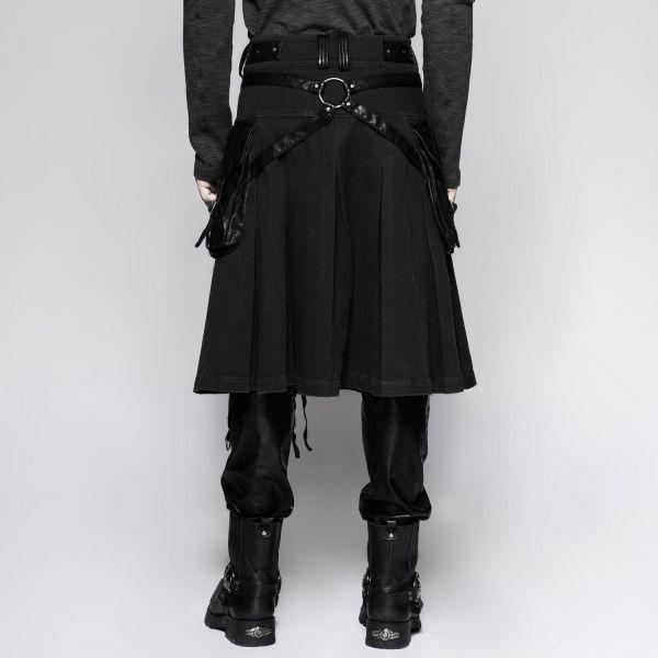 Männer Kilt mit Kunstleder-Taschen und Riegelverschluss