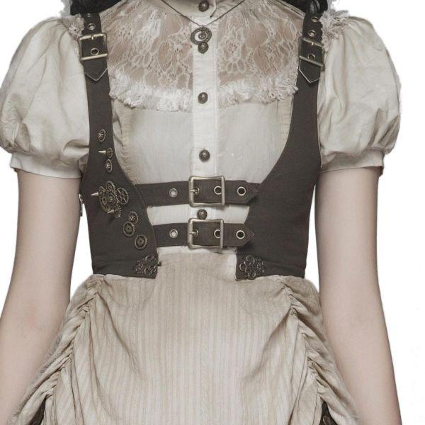 Steampunk Lolita Unterbrust Minikleid im Grunge Style