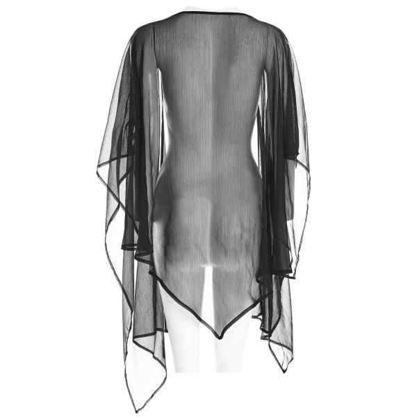 Gothic Cape Top im Schal Cardigan Look