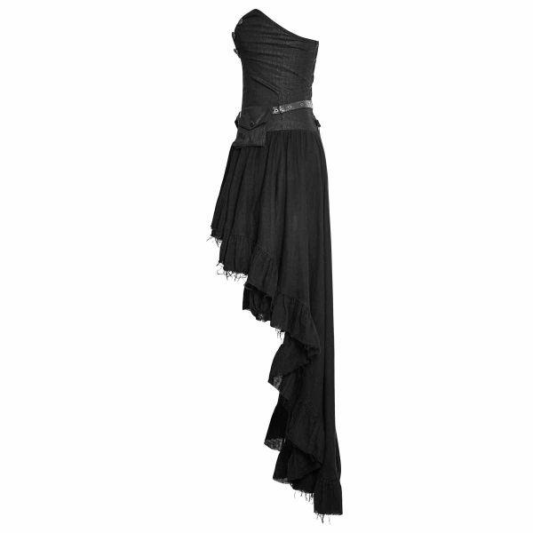 Corsagen Vokuhila Kleid Im Gothic Vintage Look Mit Tasche Voodoomaniacs