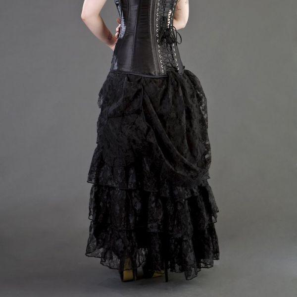 Viktorianischer Maxi Spitzenrock im Dark Romantic Look
