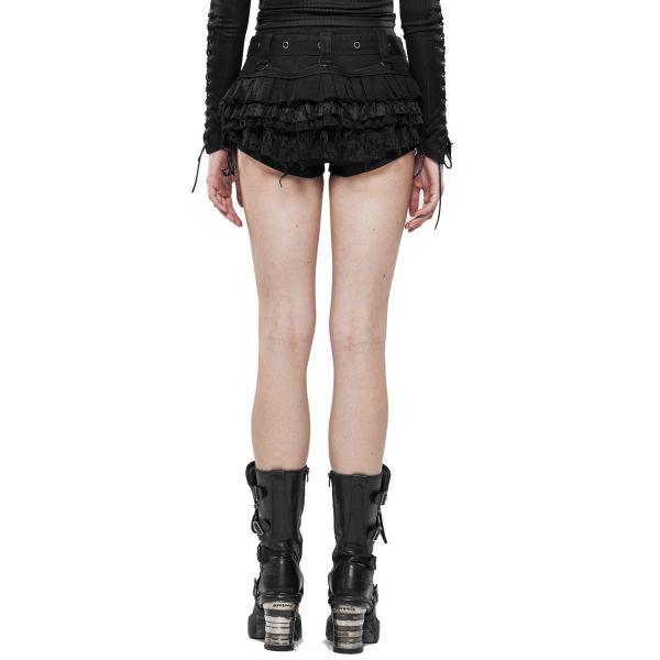 Gothic Lolita Rüschen Hotpants im Destroyed Look