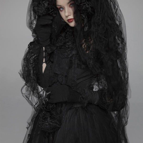 Gothic Lolita Clutch in viktorianischem Hobo Bag Style