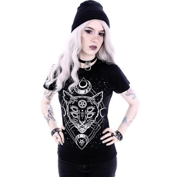 T-Shirt mit Print im Mystik Style - Galaxy Cat