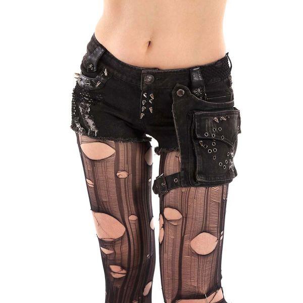 Hotpants mit Killernieten, Beinholster und Tasche