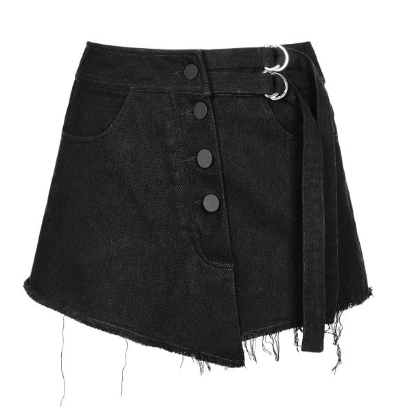 Gothic Shorts in asymmetrischem Wickelrock Look