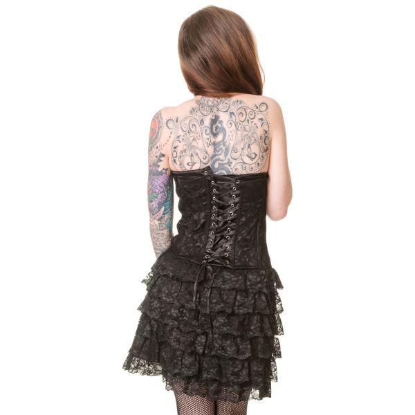 Gothic Lolita Corsagen Minikleid mit Rüschen und Spitze