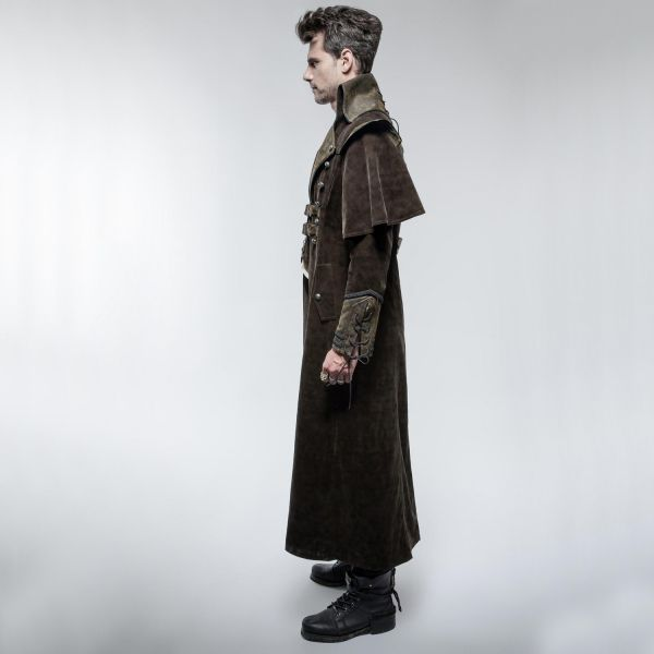 Kutschermantel im Steampunk Look mit Cape