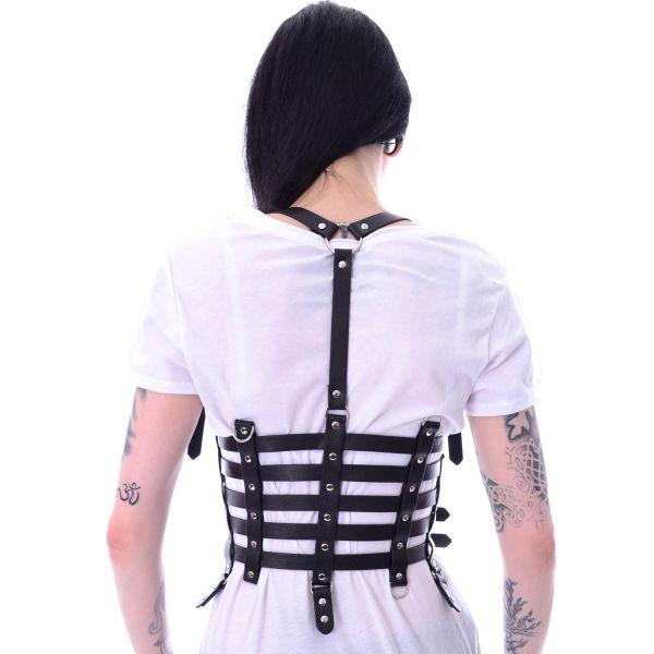 Unterbrust Taillengürtel im Harness Look