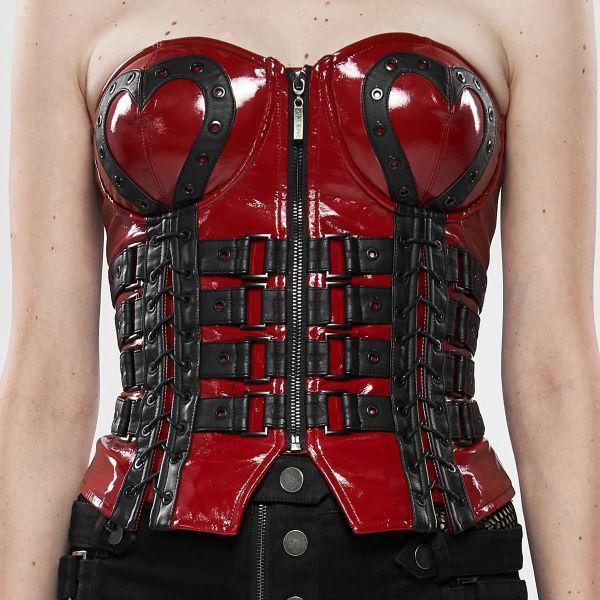 Burlesque Korsett im Fetisch Leder-Look