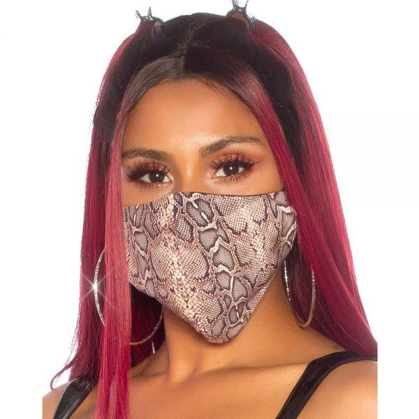 Gesichtsmaske mit Schlangenhaut Muster