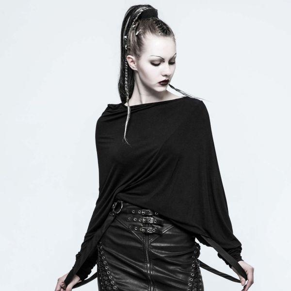 Extravagantes Everyday Goth Shirt asymmetrisch