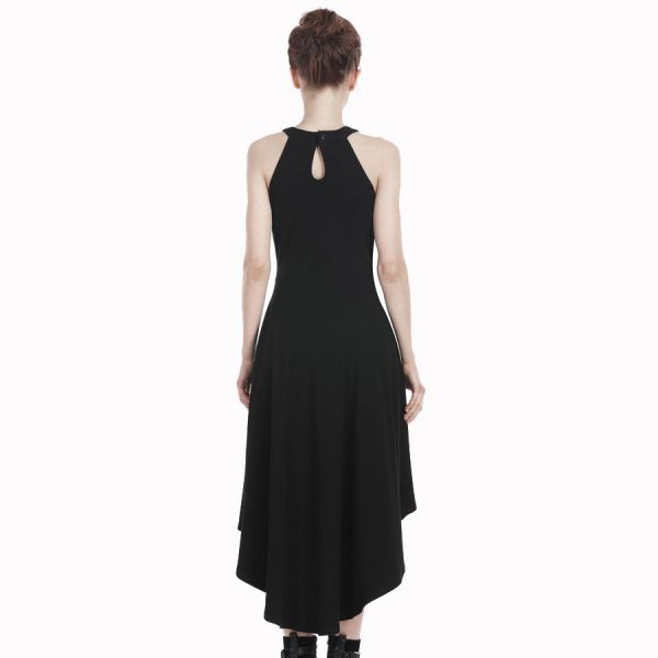 High Low Kleid im Harness Look mit Ketten