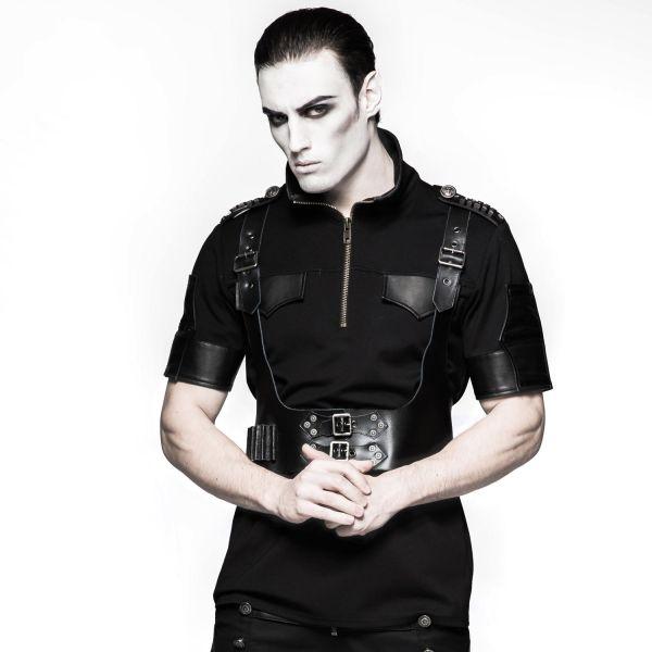 Nu Goth Fetisch Harness im Lederlook mit Trägern