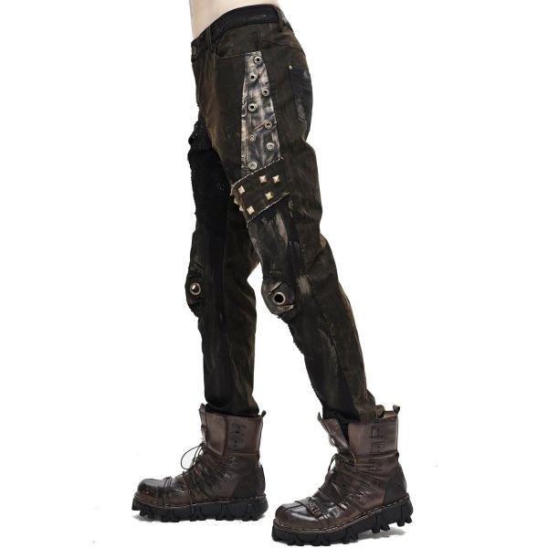 Hose im Heavy Grunge Look mit Nieten und Netz