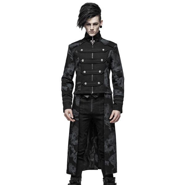Uniform Mantel Jacke mit Drachen Camouflage Print