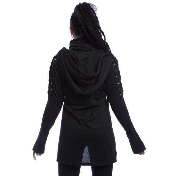 Street-Style Hoodie mit Daumenlöchern und Schalkragen