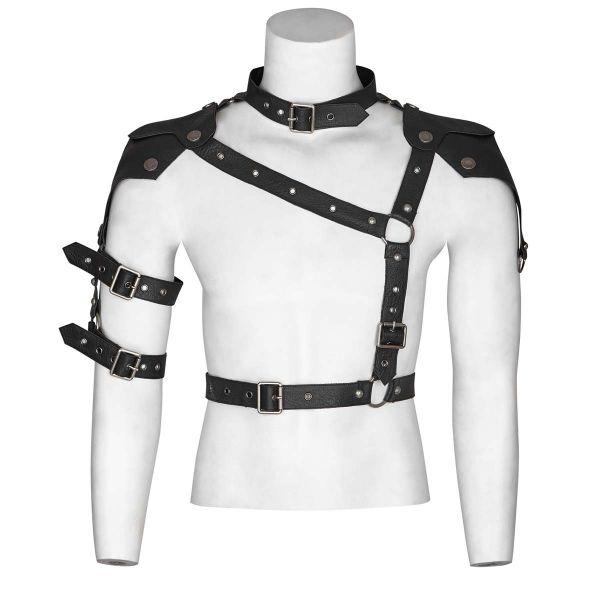 Harness Top im Warrior Style mit Halsband und Gürtel