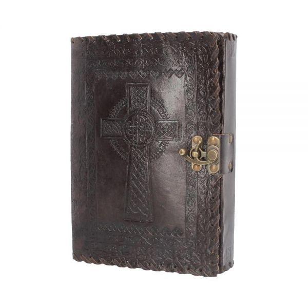 Geprägtes Leder Notizbuch mit keltischem Kreuz