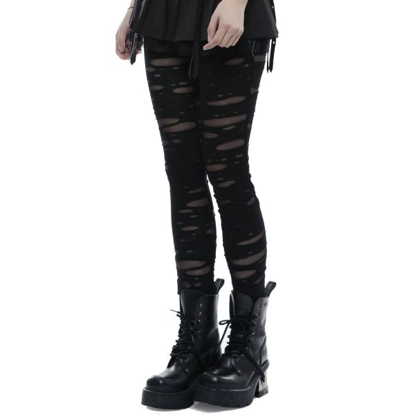 Destroyed Leggings mit Löchern im Punk Style