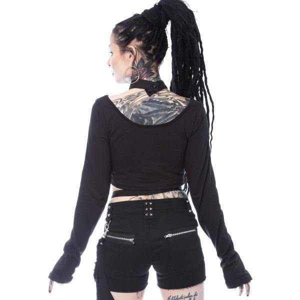 Crop Top im Bondage Harness Look mit Halsband