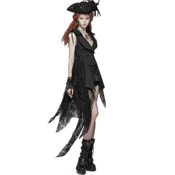 Steampunk Weste mit Reverskragen im Piraten Style
