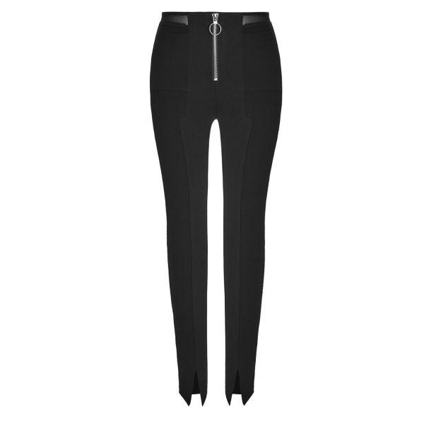 Gothic Style Leggings mit Zipper und Netz