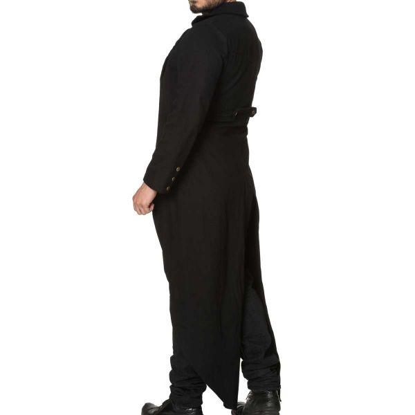 Langer schwarzer Männer Gehrock im Frack Look