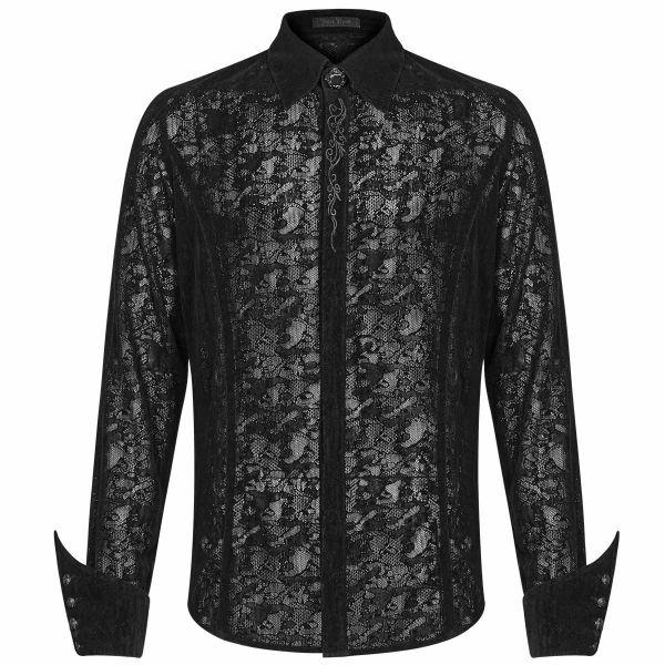 Dark Romantic Hemd im Ausbrenner Look