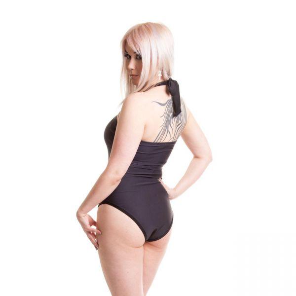 Gothic Badeanzug mit geradem Beinausschnitt - Eve
