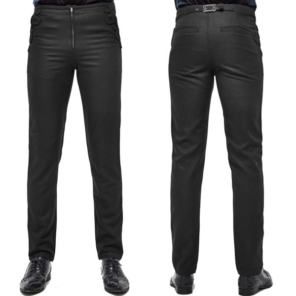 Elegante schwarze Hose in viktorianischem Look