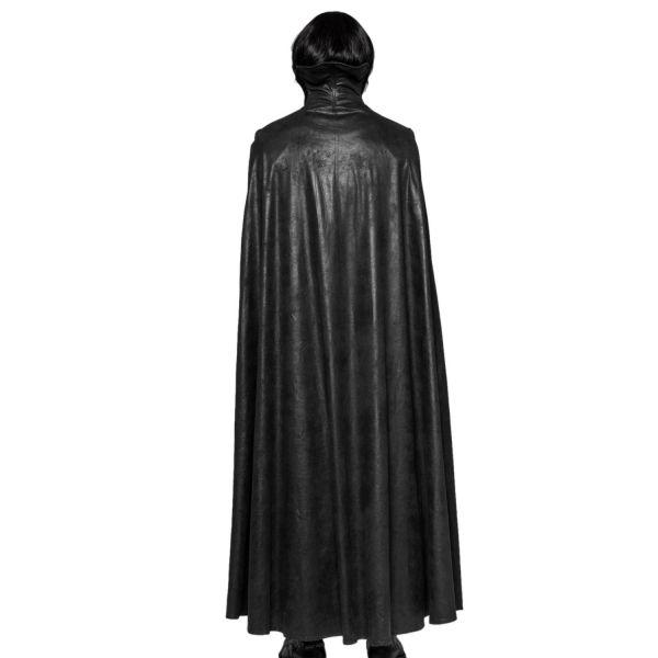 Mantel mit Umhang im Jacquard-Look mit Stehkragen