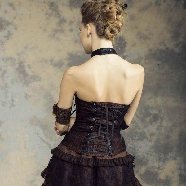 Steampunk Top im Harness Look - black