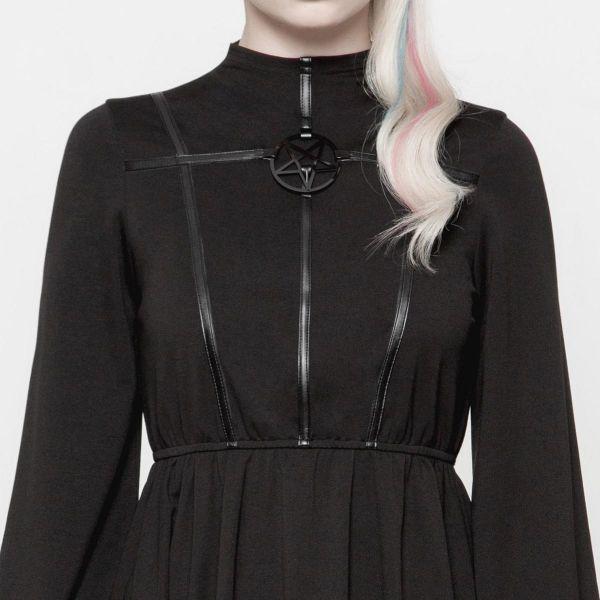 Empire Kleid mit Pentagramm Verzierung