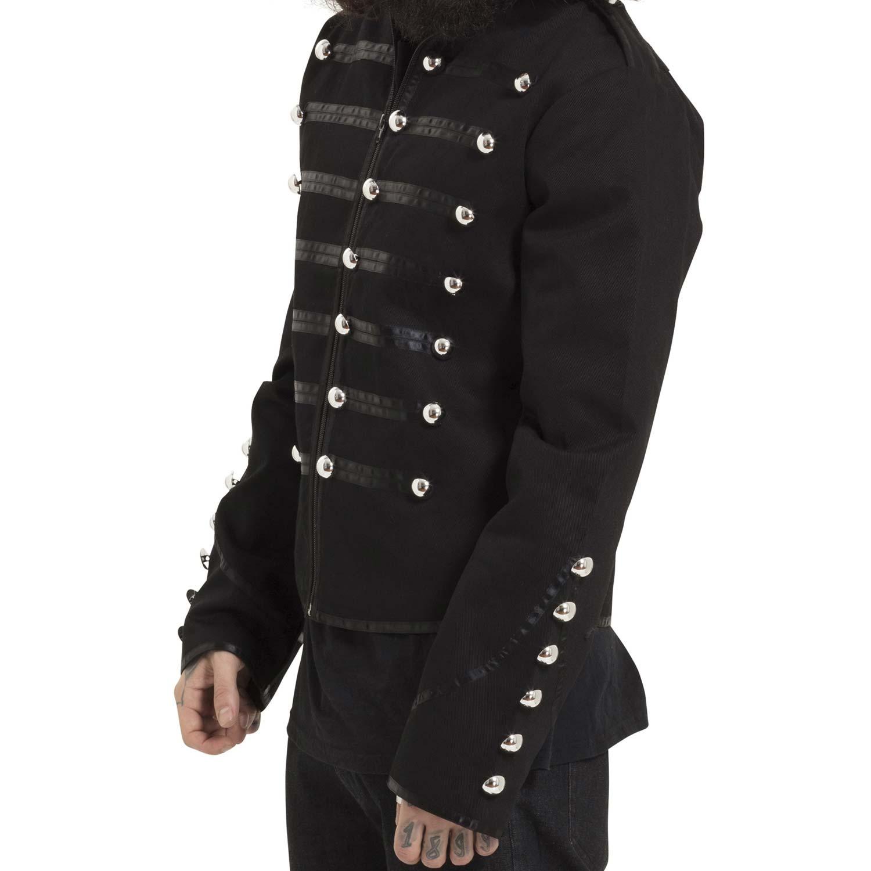 buy online 5d25c b549e Schwarze Jacke im Uniform Look mit Epauletten