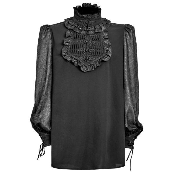 Aristokraten Hemd im Jacquard Look mit Stehkragen