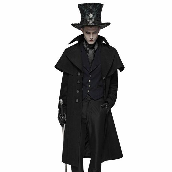 Kutschermantel mit Vampir-Kragen im Dark Mystic Style