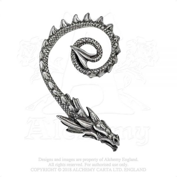 Fantasy Drachen Ohrschmuck - Ostrogoth Dragon