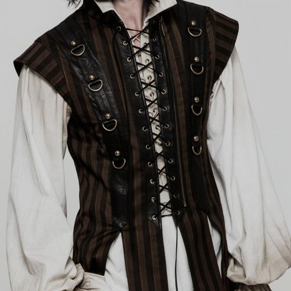 Nu Goth Weste im Steampunk Style mit Schnürung